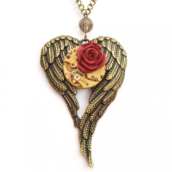 Angel Wings Steampunk Necklace - Handmade Steampunk Jewellery