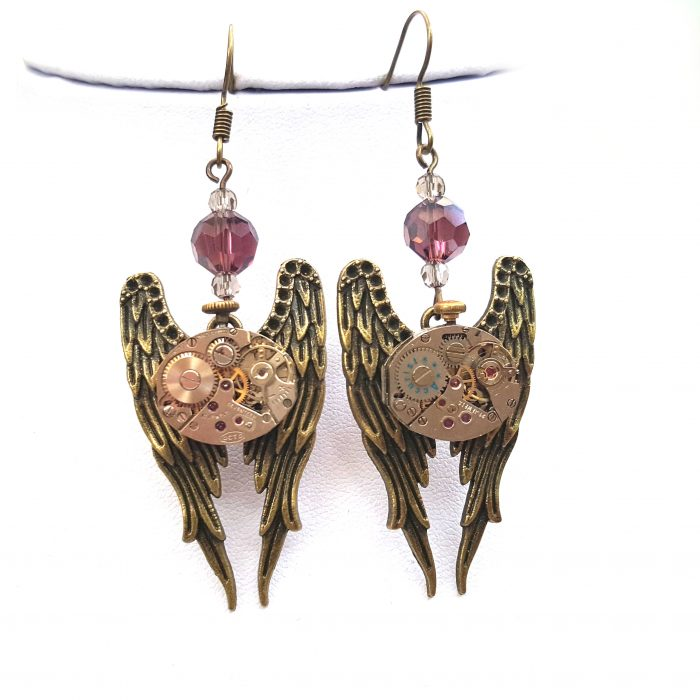 Angel Wings Earrings - Handmade Steampunk Jewellery