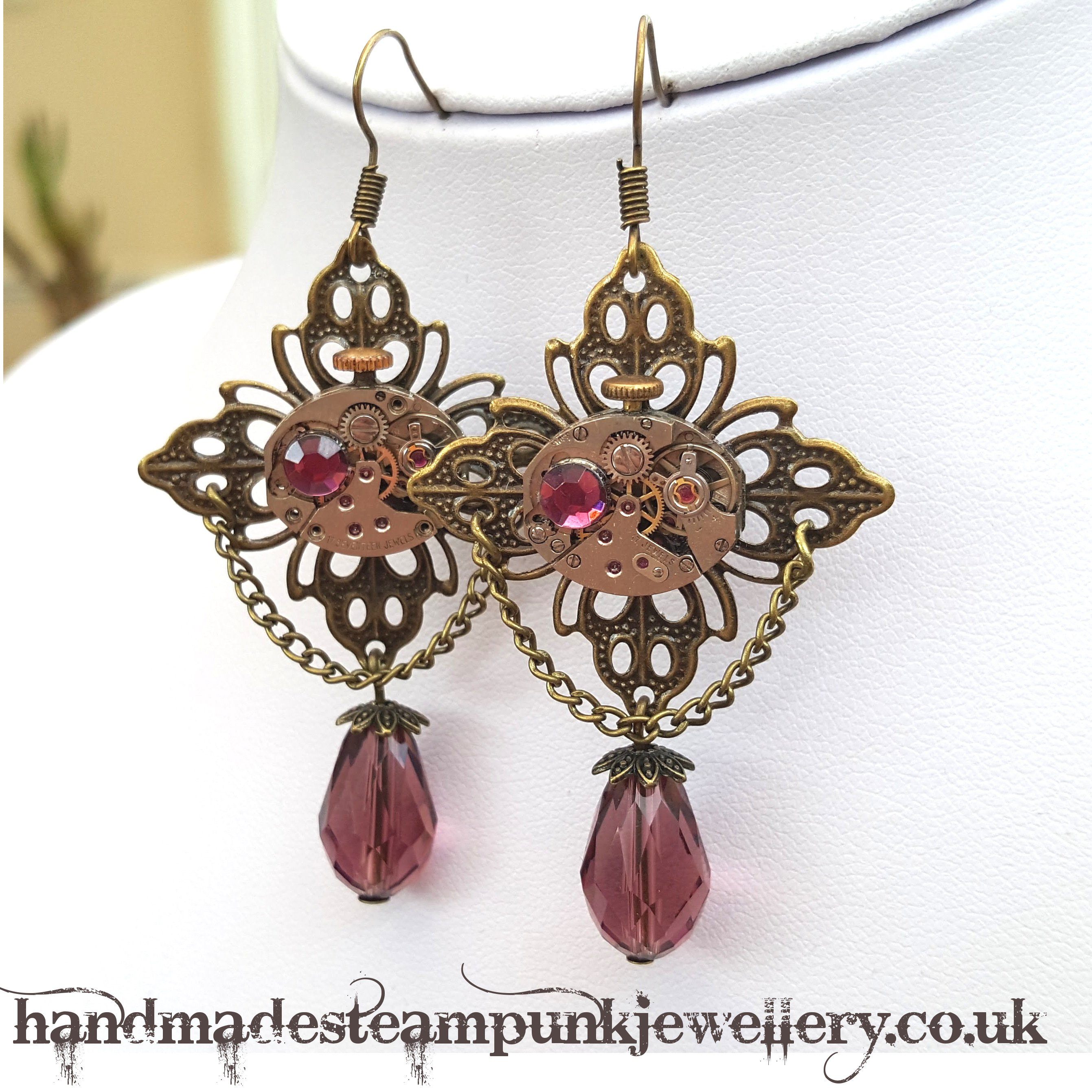 Steampunk Watch Movement Earrings - Handmade Steampunk Jewellery