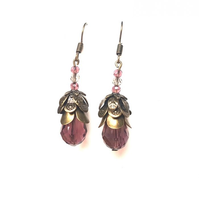 Flower Earrings - Handmade Steampunk Jewellery