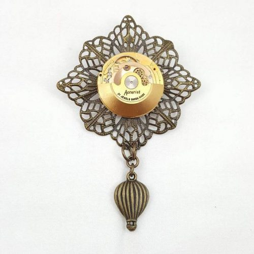Steampunk Air Balloon Brooch